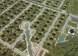3D-модель поселка