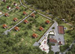 Визуализация, 3d-модель здания инфраструктуры
